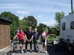 Stop off for lunch before leaving Anthony to ride onto Exeter